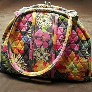 Vera Bradley Eloise kiss lock bag in Jazzy Blooms